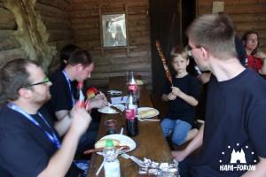 Grillen im Trapperlager