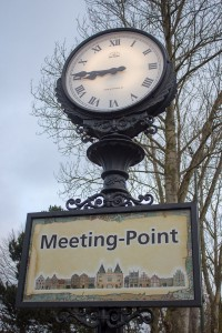 Meeting-Point am Haupteingang