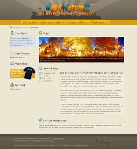 Screenshot der Startseite des HAPA-Forum V3