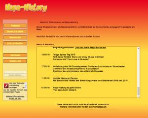 Screenshot von der Hapa-History Startseite
